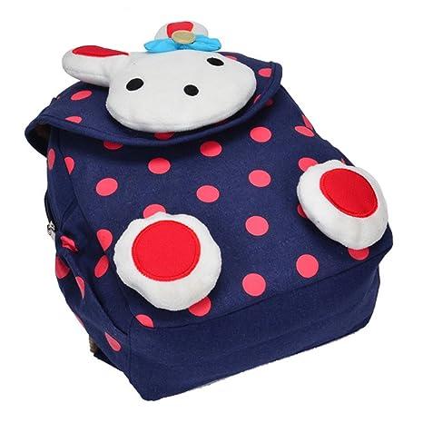 Vans mochila,Linda chica mochila,Bolsa de escuela de lona para niños Mochila mochila para niños pequeños Mochila preescolar de guardería,Conejo 3D (1-5 años ...