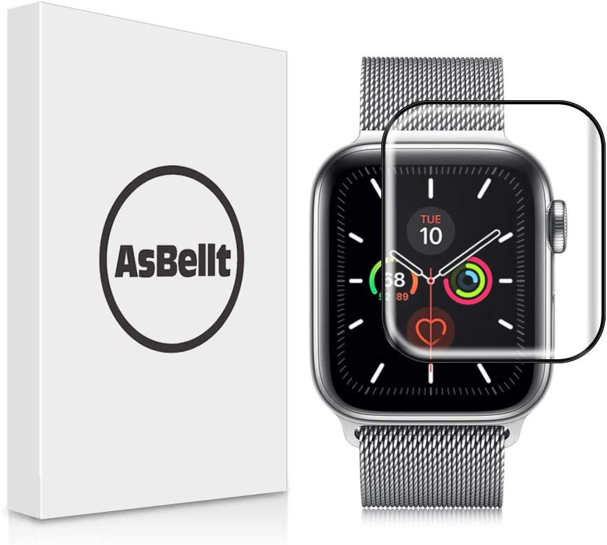 AsBellt Protector Pantalla para Apple Watch 40mm Series 6 5 4 SE Cristal Vidrio Templado para iWatch 40mm Serie 6/5/4/SE Hermès, Nike+ Edition