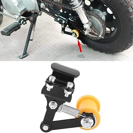 Nero Tendicatena universale Regolatore La tensione della catena della motocicletta si regola automaticamente per la maggior parte delle motociclette