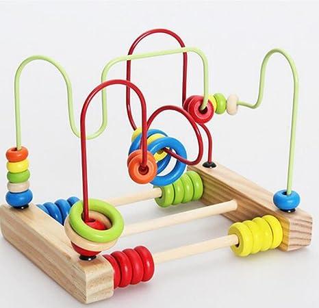 Vi.yo - Posavasos de madera con diseño de círculos, abacus, alambre de