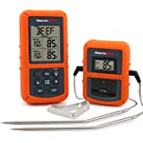 ThermoPro TP20 Wireless Remote Digital Meat Thermometer with Dual Probe for Smoker Grill Oven BBQ , Monitor Temperature from 300 Feet away , Batteries Included