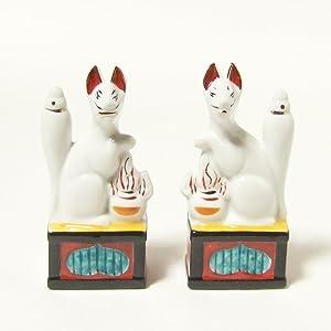 Moa Feteli Mini Inari for Home Shrine(Japanese White Fox Messenger of god)