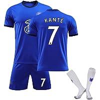 SXMY Juego de Uniformes de Fútbol para Adultos y Niños, Chelsea No. 7 Kanté Jersey de Fútbol, Camiseta del Fanático…