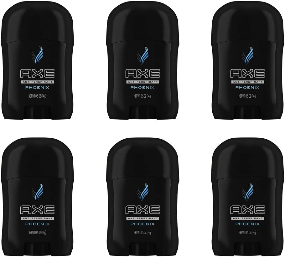 Axe Antiperspirant Deodorant, Invisible Solid, Phoenix, Travel Size 0.5 Ounce (Pack of 6)