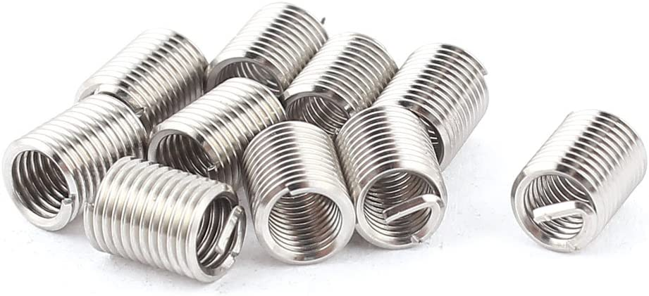 10 Off V-Coil Thread Repair Inserts M6 x 1 Compatible With Helicoil 2.5D