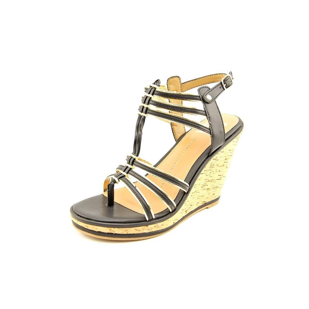 DV By Dolce Vita Women Tenley Wedge Sandals B00I01X36Y 9.5 B(M) US|Black Leather