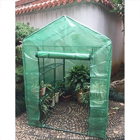 Jardín Portátil de Plástico Verde Casa Plantas de Flores de Efecto Invernadero Cálido para Patio Jardín Trasero al Aire Libre(L): Amazon.es: Hogar