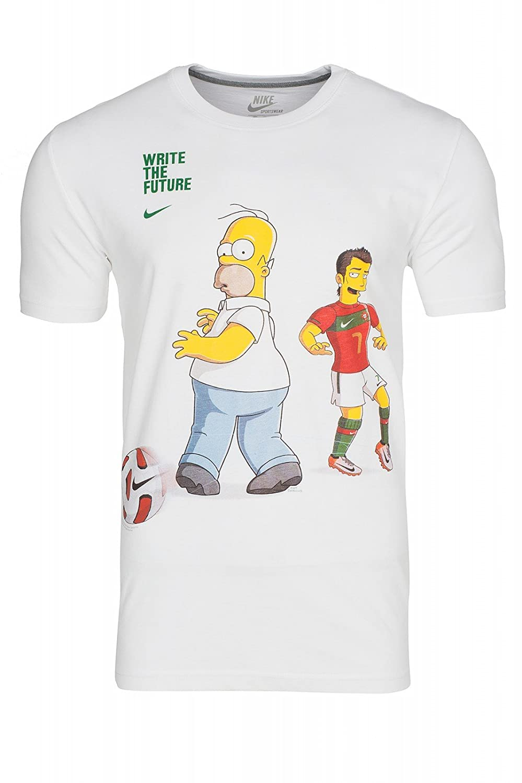 432934 Para Camisa Hombres Hombre Ronaldoh Blanco Casual Nike zw48ZgBqc