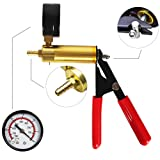 CARSC Hand Held Vacuum Pump Tester Kit with Adapter and Case is Suitable for Automotive Vacuum Gauge and Brake Exhaust Kit