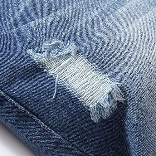 Da Pocket Casual Pantaloni Uomo Corti Distrutti Style Giovane Di Fashion Hellblau Bermuda Pantaloncini Jeans Vintage Estate pAFwBBq
