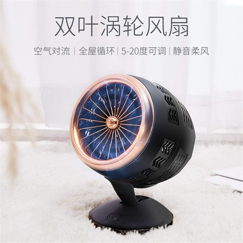 Convenient Turbo Double Leaf Mini Desktop USB Small Electric Fan Air Cooler Cycle Home Dormitory Electric Fan Durable Color : 03