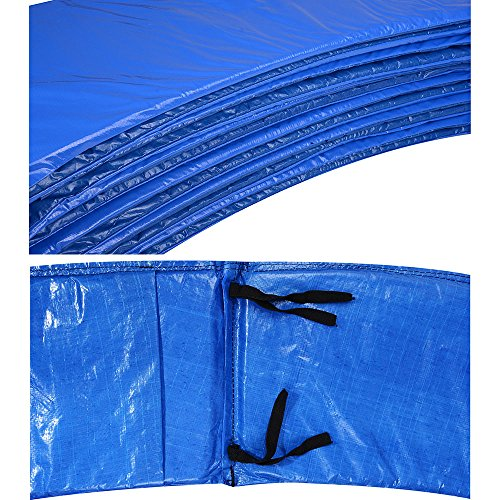 ZeHuoGe 14 Ft.Round Trampoline Part Safety Pad Blue Padding Foam EPE 10'' W x 0.55'' Thick Cold Crack Protected Anti-Bacterial UV Treated Coating 12 Double Tie-Downs US Delivery (14 Ft.) by ZeHuoGe (Image #2)