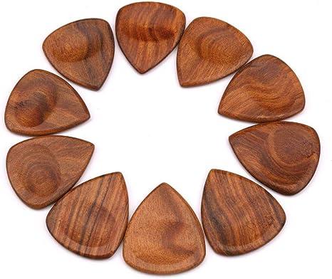 50 púas de madera para guitarra, bajo, ukelele, púas con forma de ...