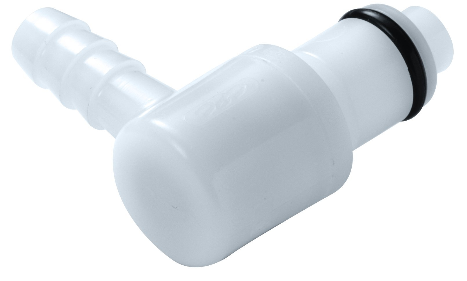 Colder PMC2302 Acetal Tube Fitting, Elbow, Straight Thru, 1/8'' Insert x 1/8'' Tube OD