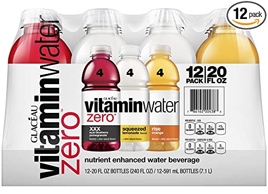 vitaminwater zero variety pack, 20 fl oz (Pack of 12)