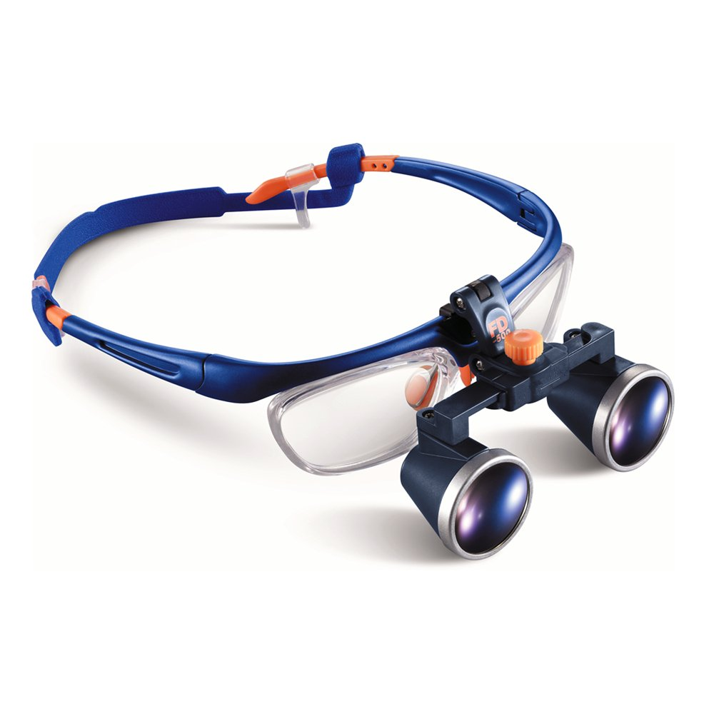 Medical Dental Surgical Loupes, 2.5X FDA Approved PD Two-way Adjustment Goggles Frame Binocular Magnifying Glasses Loupe (360 - 460 mm)