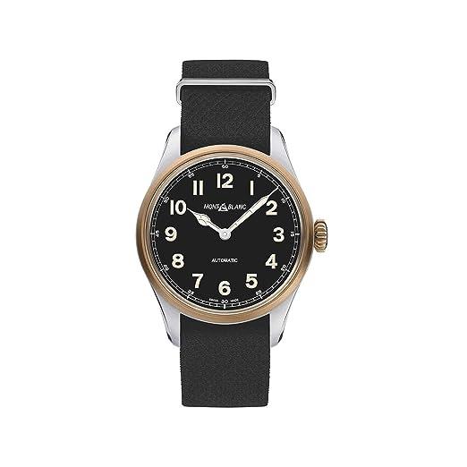 Montblanc 1858 Reloj de Hombre automático 40mm Correa de Nylon 117832: Amazon.es: Relojes