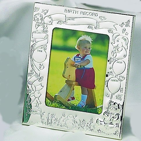 Elegance Silver Silver Birth Record Photo Frame by Elegance Silver
