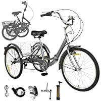 Featuring 20-Inch Large Retro Double-Top Tube Aluminum Frame AHUIGOYCE Cruiser Bike Steel V Brake High Tensile Steel Folding Frame