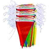 zagtag 375 Feet Pennant Banners String Flag Banner, 300Pcs Nylon Fabric Pennant Flags for Grand Opening,Party Festivals Decor