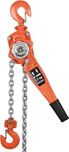 Happybuy 1-1/2 Ton Lift Lever Block Chain Hoist 20Feet Chain Come Along Puller Lift Hoist for Lifting