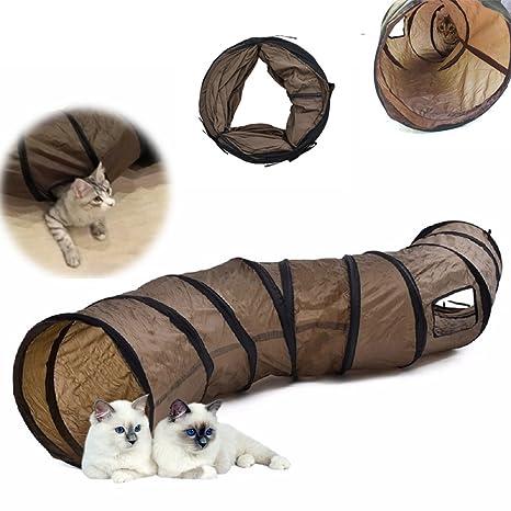 SKJIND Túnel de Juguete para Gatos, Tubo de Tienda de Campaña para Entrenamiento