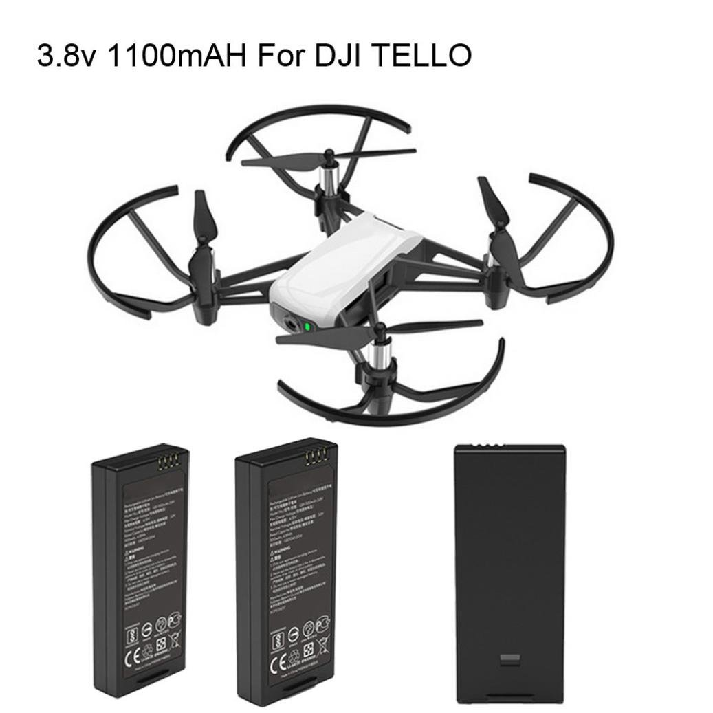 Spritumn 2PC Rechargeable Lipo Battery Accessory For DJI Tello Quadcopter Drone Intelligent Flight Battery 1100 mAh 3.8V