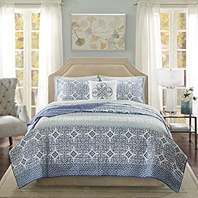 Madison Park Sybil Complete Reversible Coverlet and Cotton Sheet Set
