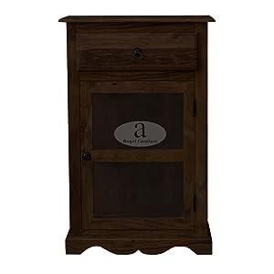 ANGEL FURNITURE Portland Rosewood Kitchen Crockery Cabinet, Small (Walnut Finish)