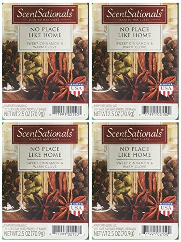 ScentSationals No Place Like Home Scented Wax Cubes - 4-Pack