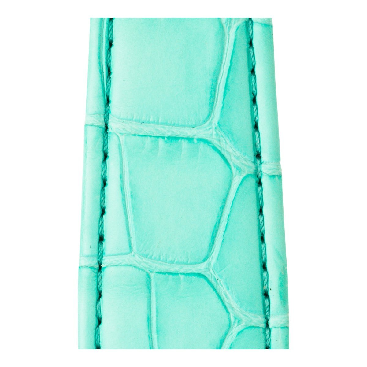Roobaya | Premium Alligator Leather Apple Watch Band in Turquoise | Includes Adapters matching the Color of the Apple Watch, Case Color:Rose Gold Aluminum, Size:38 mm by Roobaya (Image #5)