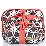 Raymond Waites 3 Piece Cosmetic Bag Gift Set; Black and White Set of 3 Cosmetics Cases. Perfect for Travel or Home Use
