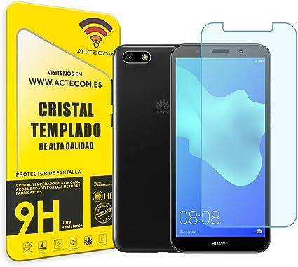 actecom Cristal Templado Protector Pantalla Huawei Y5 2018: Amazon ...