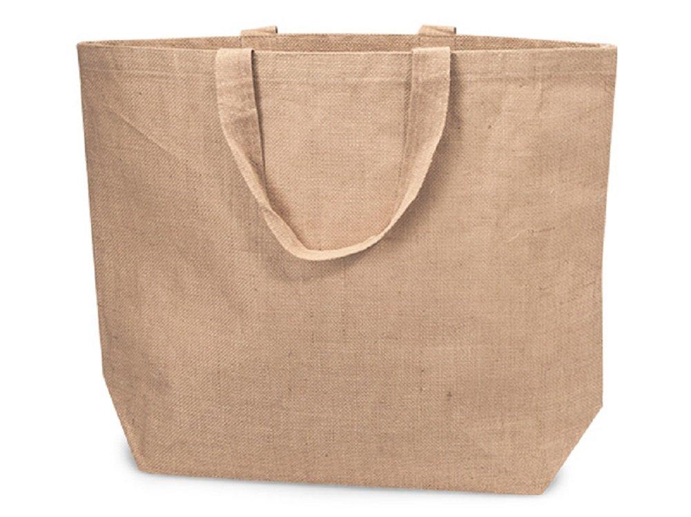 値引 ジュート黄麻布 ビーチトートバッグ エコフレンドリー ショッピングトート コットン裏地付き Large Large (22
