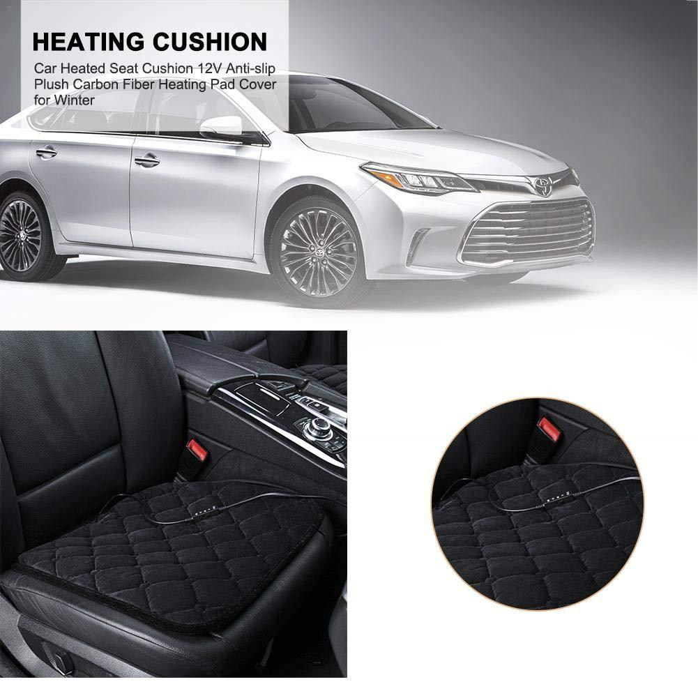 45x45x1cm Fodera riscaldante in Fibra di Carbonio per Peluche Antiscivolo 12V per linverno Hangarone Cuscino del Sedile riscaldato per Auto