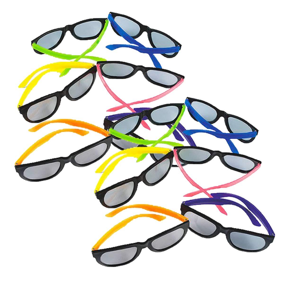 6cde79ae18 Amazon.com  Fun Express Child Neon Sunglasses