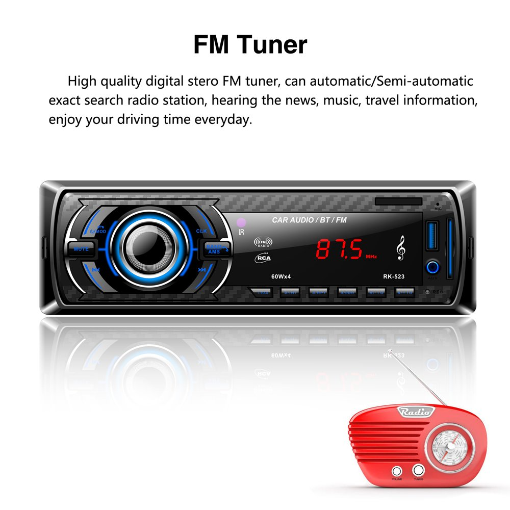 Lslya Car Stereo Audio Receiver Fm Radio Mp3 Player With Remote Control Circuit Using A Electronic Bluetooth Usb Sd Aux Mmc Single Din In Dash Electronics