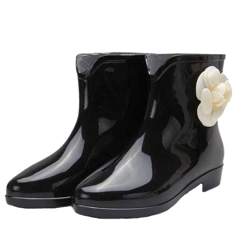 Dear Time Camellia Flower Women Rain Boots