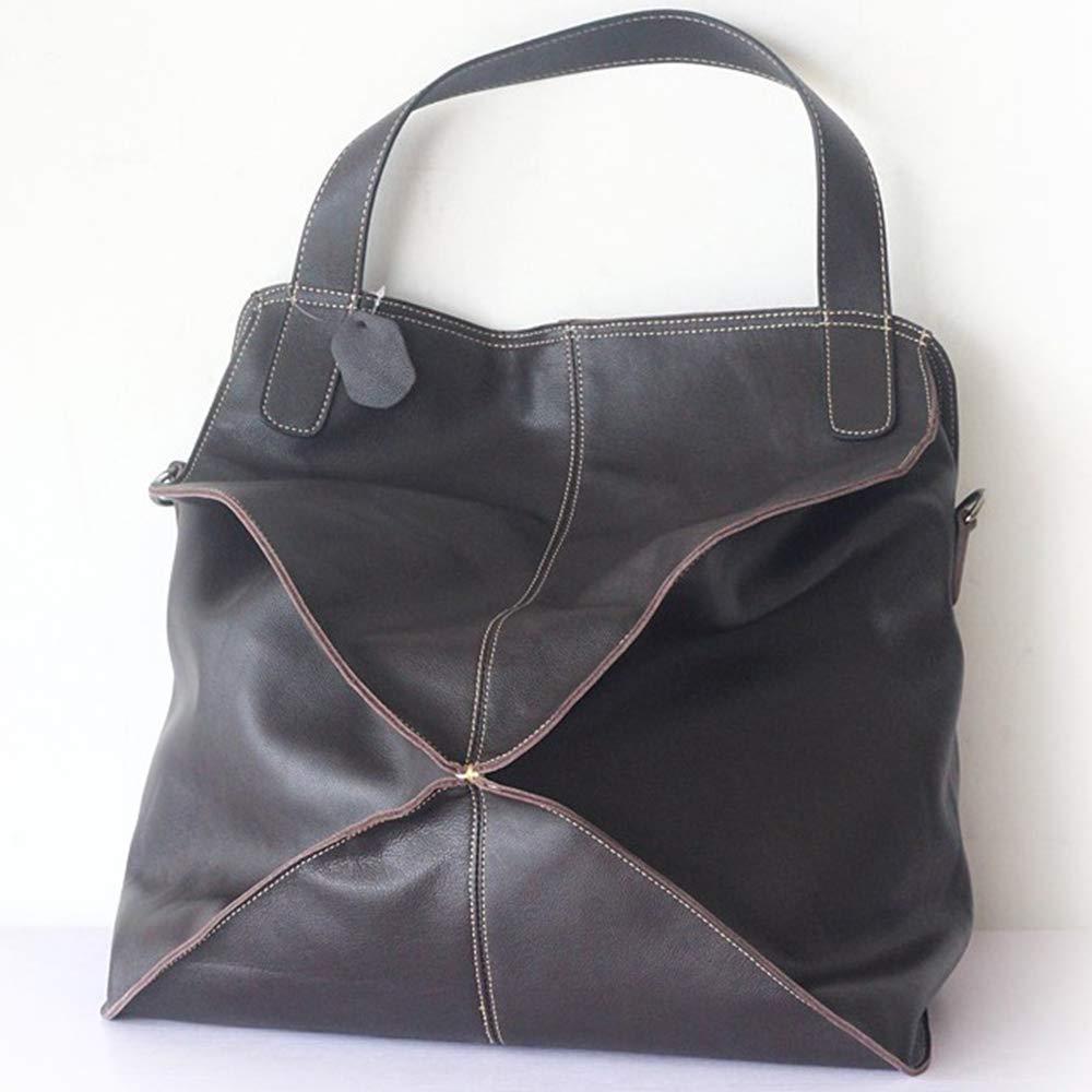 レディースハンドバッグ ファッションショルダーバッグ ソフトレザーバッグ ファーストレイヤー牛革ファブリック 通気性、耐摩耗性,Brown B07PLD6QYP Brown