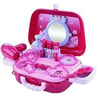 Makeup Playsets,JJmooer Simulation Kids Makeup Playsets Case Handbag Pretend Play Make Up Case and Cosmetic Set 20PCS Toddler Makeup Toys for Girls Cosmetician Playset