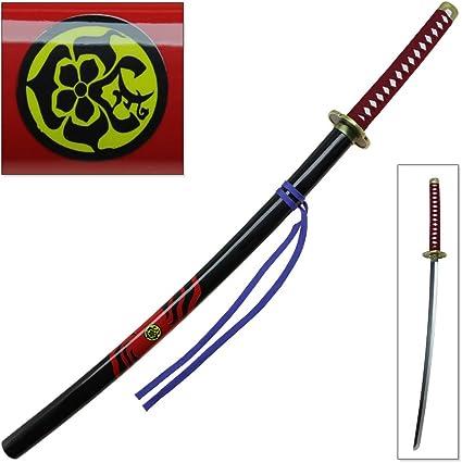 "40/"" Katana Ying Yang Heavy Duty Japanese Samurai Sword Carbon Steel Blade Black"