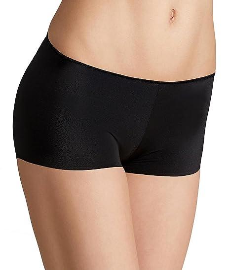 9784e0f63b57 TC Fine Intimates Women's TC Edge Microfiber Boyshort A406 Black Boy Shorts  SM