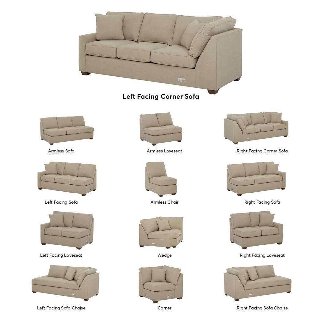 Stone & Beam Bagley Sectional Component, Left-Facing Corner Sofa, Fabric,  90\