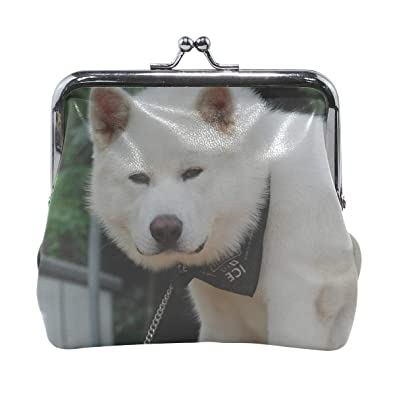 aee06fa4b41d Amazon.com: Rh Studio Coin Purse Akita Inu Dog Puppy Fluffy Bandana ...