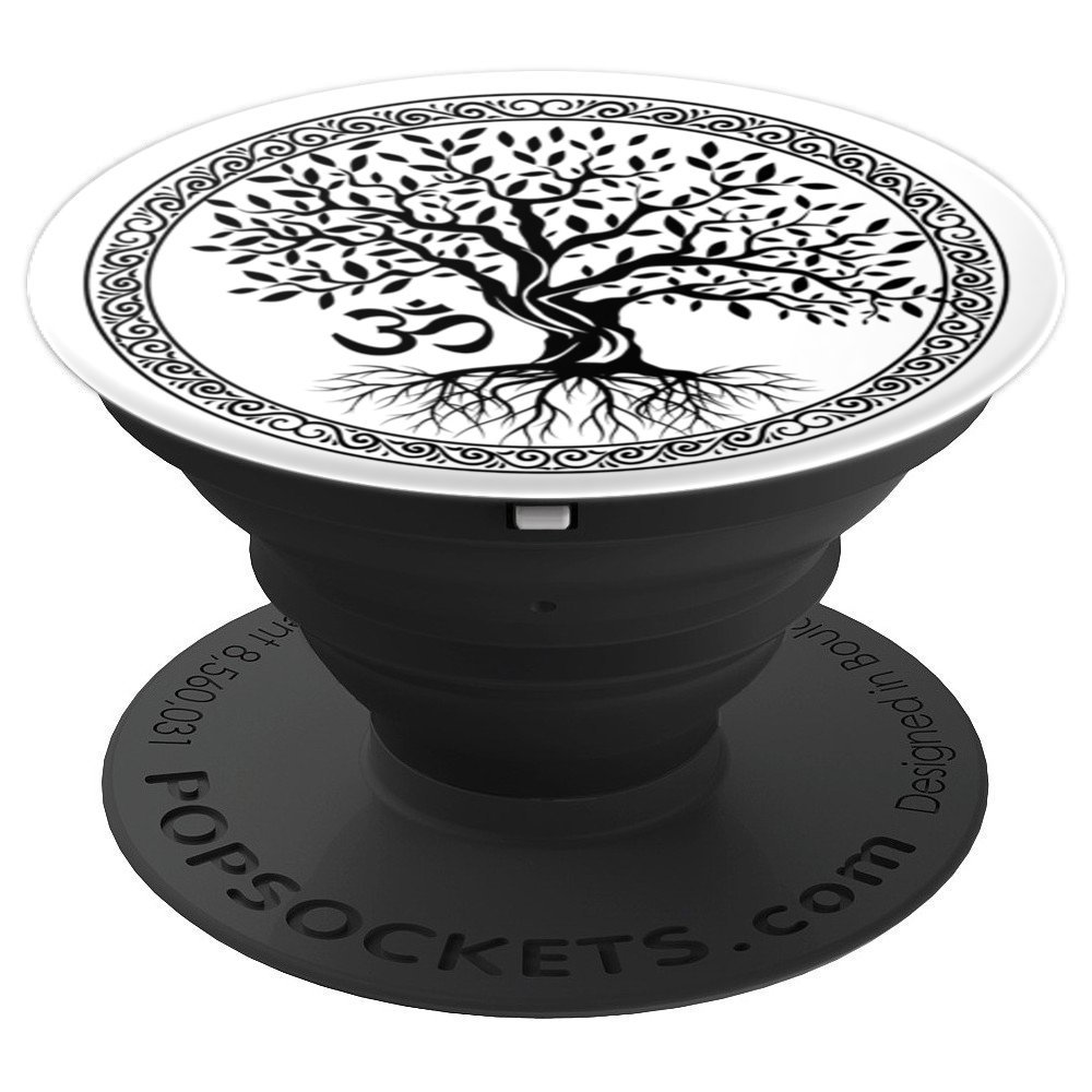 Tree of Life With Yoga OM Aum Symbol - PopSockets Grip and Stand for Phones and Tablets