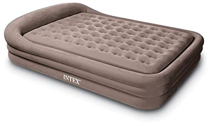 Amazon Com Intex Comfort Frame Rising Comfort Queen Airbed With