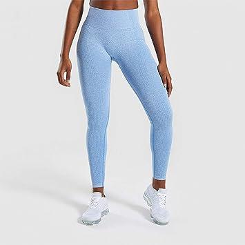 WHFDDDK Mujeres Color Mujeres Fitness Leggings Deporte Yoga ...