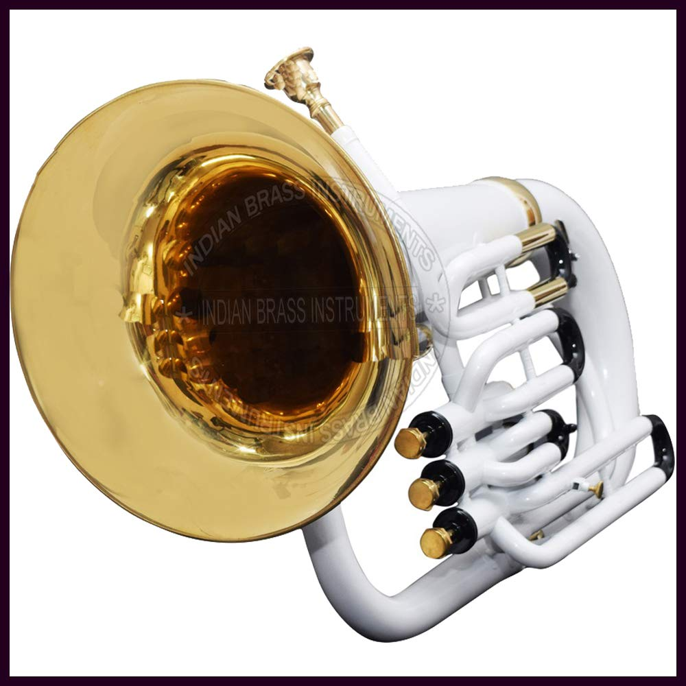 NASIR ALI EUPHONIUM Bb PITCH @10% DISC. WHITE WITH FREE Bag + MP + SHIP