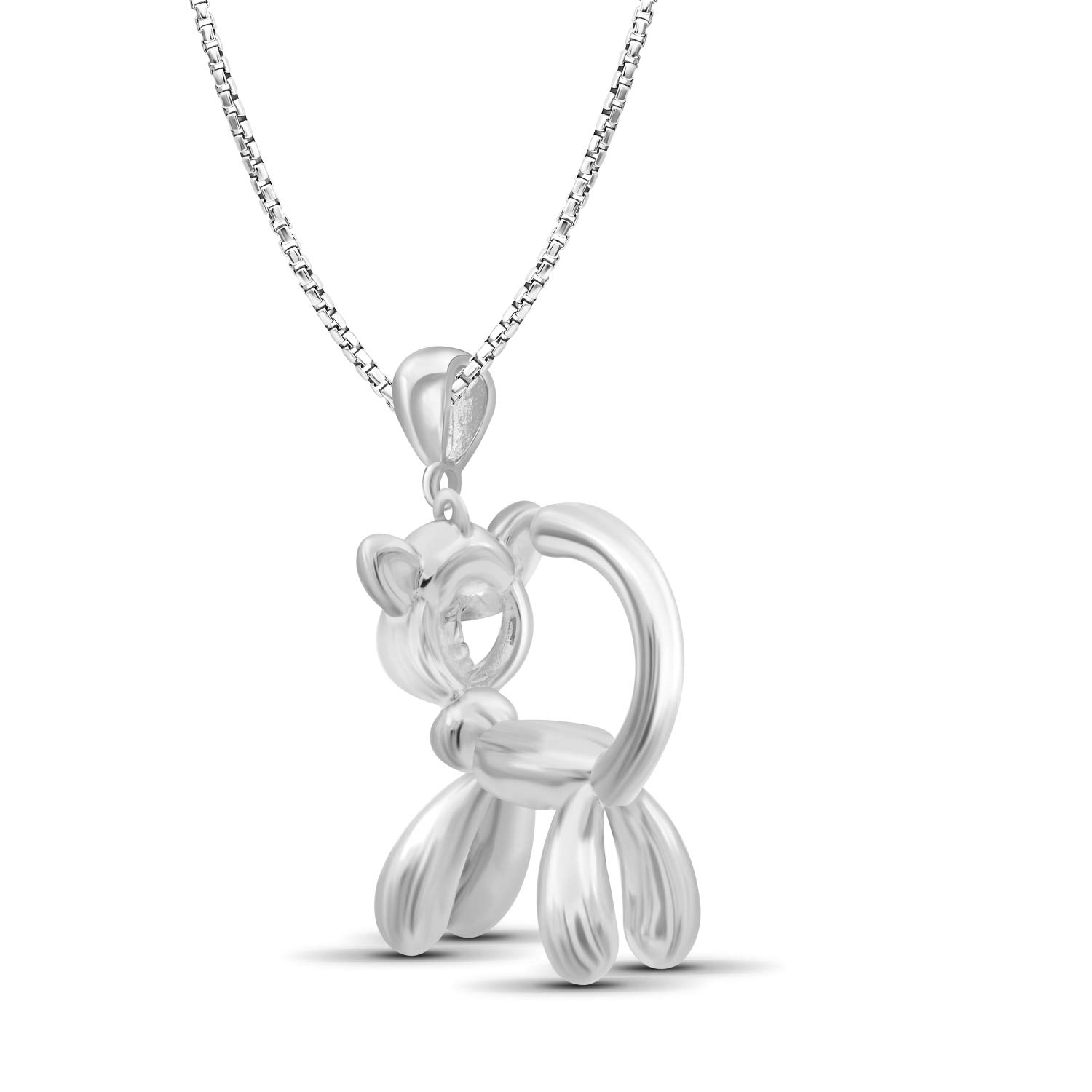 Jewelexcess Sterling Silver Cat Metal Pendant