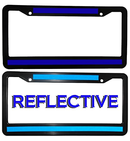 Thin Blue Line License Plate Frame DOUBLE BLUE LINE!  sc 1 st  Amazon.com & Amazon.com: Thin Blue Line License Plate Frame DOUBLE BLUE LINE ...